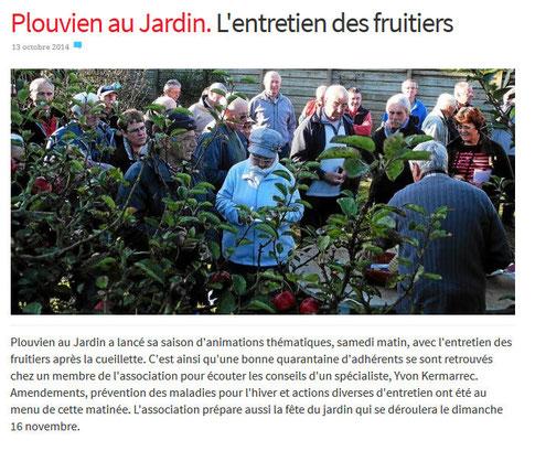 Entretien des fruitiers site de plouvien au jardin for Entretien jardin en fevrier
