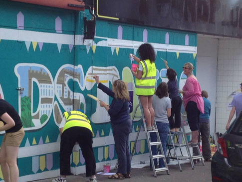 Broadstairs mural volunteers (done before my time with the Town Team)