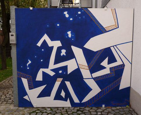 Raumfahrt 200 x 200 cm