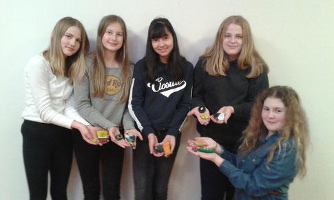 v.l.n.r.: Frederike Schäfer, Lorena Lohr, Anu Knoke, Nele Klee, Hannah Koch (Foto: Stephanie Seitz).