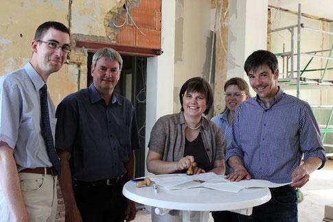 D. Altmann, P. Nissen, A. Schäfer, M. Forejt u. M. Mannsbarth (Foto: Inge Seidenstücker)