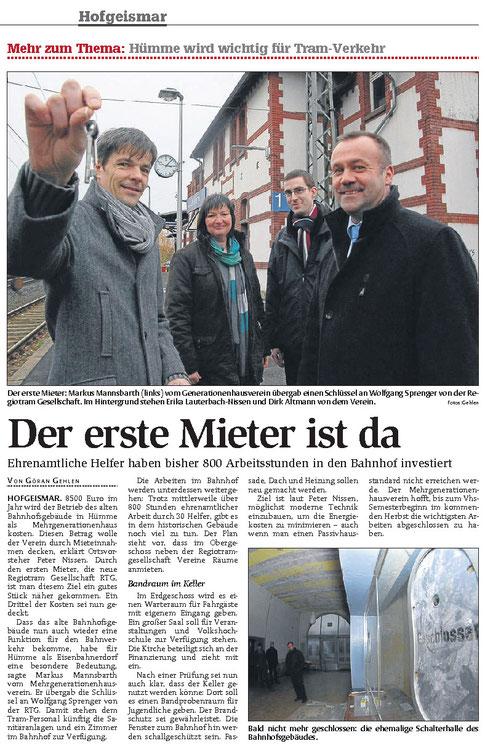 Quelle: HNA Hofgeismar, 13.12.2013