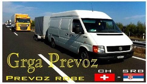 prevoz robe Cirih Srbija