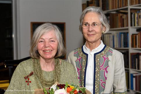 Die deutsche Botschafterin, Frau Dr. Wasum-Rainer, hat Frau Fleischmann mit dem Bundesverdienstkreuz ausgezeichnet (8 Januar 2019)