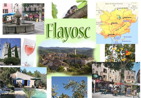 Le village de Flayosc dans le Var