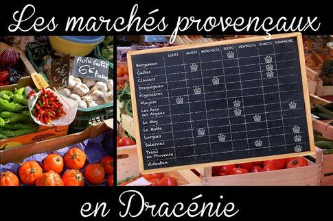 Les marchés provençaux en Dracénie