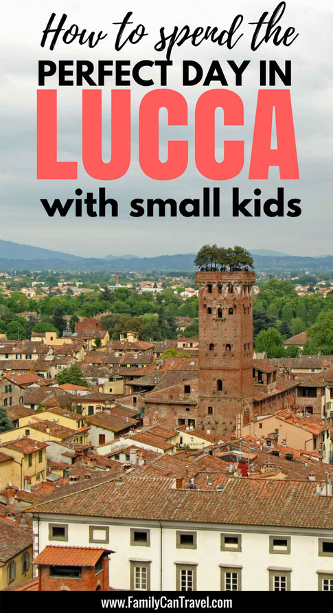 Wondering what Lucca has to offer for families? Here's the perfect way to spend a day in Lucca, Italy with kids! | Family Travel | Travel with kids | Toddler Travel | #familytravel #toddlertravel #travelwithkids #italy #lucca