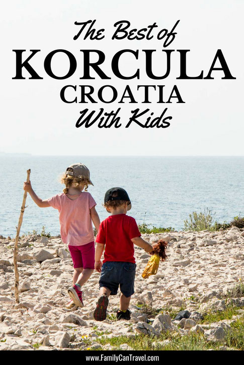 Don't miss the island of Korcula in Croatia. It has some of the most incredible blue water and some great hikes for families. Here is the best of things to do in Korcula with kids. #croatia #korcula #travelwithkids #familytravel #croatiaislanddestinations