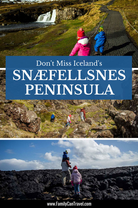 Snaefellsnes Peninsula packs a little of everything that makes Iceland special into a small, easily driveable space. There are volcanoes, lava fields, mountains, waterfalls, fjords and big waves on rocky cliffs. #iceland #snaefellsnespeninsula