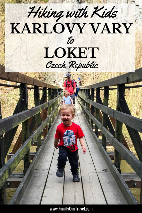 Hiking between two of the prettiest towns in Czech Republic. This hike is family friendly and worth the stop in Karlovy Vary! #czechrepublic #karlovyvary #loket #travelwithkids #hikingwithkids #familytravel #toddlertravel