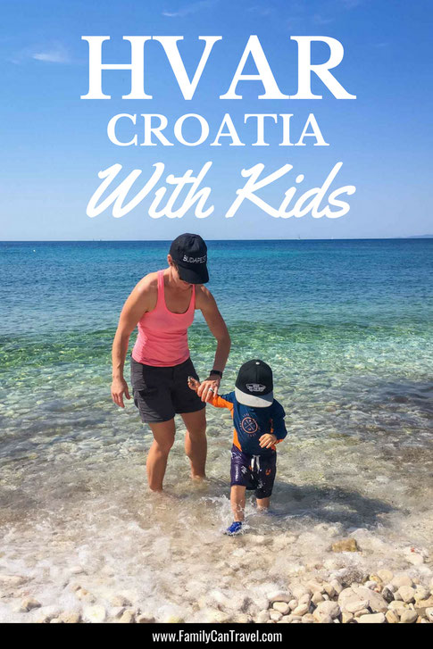 There's more to Hvar Croatia than a party town. If you love nature and beaches, it's the perfect island destination for active families. Here are the best things to do with kids on Hvar. #Croatia #hvar #travelwithkids #hvaritinerary #toddlertravel