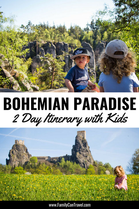 We fell in love with Bohemian Paradise in the Czech Republic and you will too! Whether you are traveling with kids or not, here are the best places to visit in Bohemian Paradise! #czechrepublic #bohemianparadise #travelwithkids #hikingwithkids #itinerary