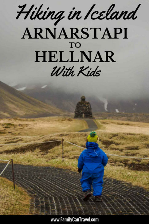 Looking for a hike in Iceland for the whole family? Hike the Arnarstapi to Hellnar trail on the Snaefellsnes Peninsula for some of the most incredible scenery! #hikingwithkids #iceland #snaefellsnespeninsula #arnarstapi #hellnar