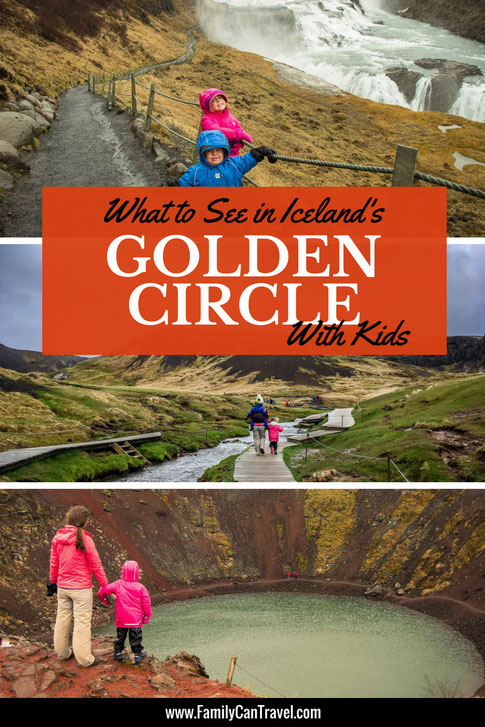 The Golden Circle in Iceland is a great area to visit with kids. You can do it either as a day trip or spend the night in the Golden Circle to beat the crowds. Click to Read More | Family Travel | Iceland with Kids | #familytravel #iceland #goldencircle