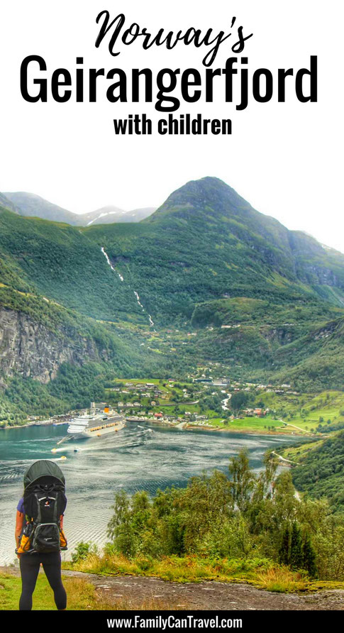 Geirangerfjord - One of Norway's most beautiful fjords! Here's how to visit with kids... | Family Travel | Norway with kids | Travel with kids | Toddler Travel | #familytravel #toddlertravel #travelwithkids #norway #geirangerfjord #geiranger