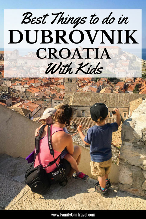 Dubrovnik is so much more than just Game of Throne sites. Read our post on the best things to do with kids in Dubrovnik Croatia. #croatia #dubrovnik #croatiawithkids #travelwithkids #dubrovnikwithkids #toddlertravel #familytravel