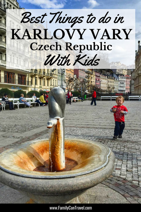 Karlovy Vary is a spa town, but don't let this stop you from visiting with kids. There are some great outdoor activities that you and your kids will love in Karlovy Vary! #karlovyvary #czechrepublic #travelwithkids #familytravel #hikingwithkids