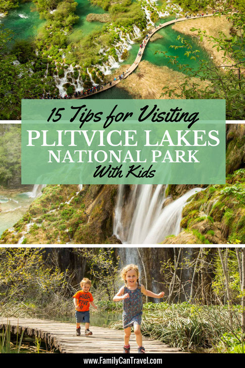 Plitvice Lakes Croatia is truly a place you should experience! It can be crowded and there are some things you should know if traveling with kids. We have all the tips you need for visiting Plitvice with kids! #croatia #plitvicelakes #travelwithkids