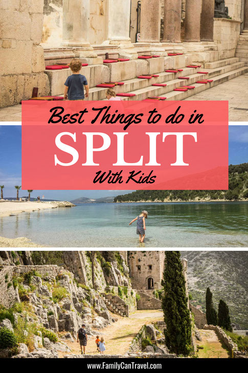If you are going to Croatia then chances are you'll spend some time in Split. Here are our favourite things to see and do with kids around Split, Croatia. #splitcroatia #croatia #familytravel #toddlertravel #croatiatraveldestinations #travelwithkids