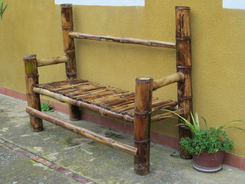 Banca de jardin en bambú guadua