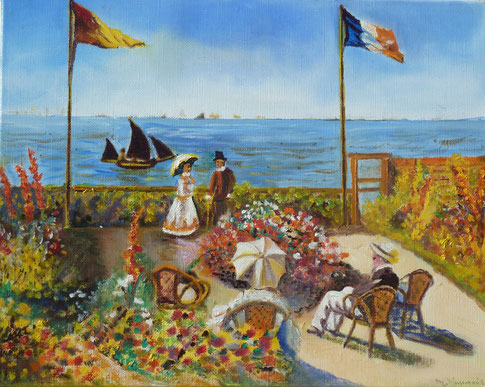Jardin de Ste Victoire d'après Claude Monet