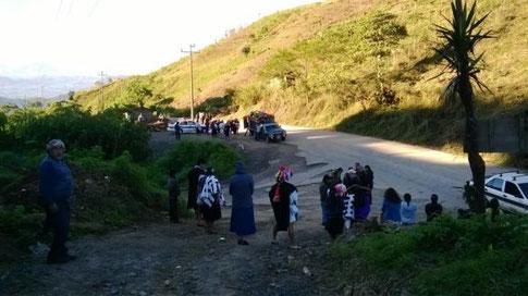 Beginn des Pilgerweges nach Acteal