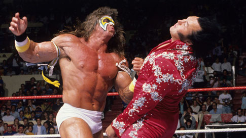 The Ultimate Warrior destroyed the record breaking champ in under 30 seconds. Of course we know it's all fake, but don't let that get in the way of good evangelism