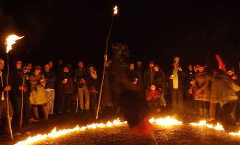 Spooky, demoniac rituals are carried out known as wassaling, which is where Christmas caroling originates from.