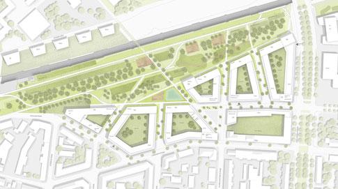 dgk architekten Masterplan Leipzig Stadtquartier Holzbau Holzfassaden Wohnungsbau