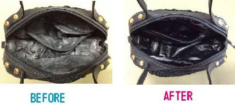 バッグの内側張替え