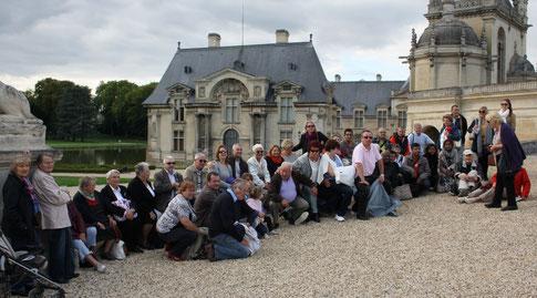 Adhérents en voyage a Chantilly en 2015