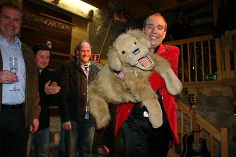 Marcus Geus - Zauberer und Bauchreder alias Marcelini  und Oskar zu Gast am 8 Mai 2013 mit seinem Soloprogramm
