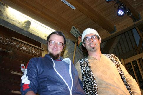 Lupper und Bappo alias Thomas Klug und Matthias Schmelzer Nachwuchs Kaparettisten am 10. Mai 2013 zu Gast bei der Weindunstbühne am Ohrwurmtag