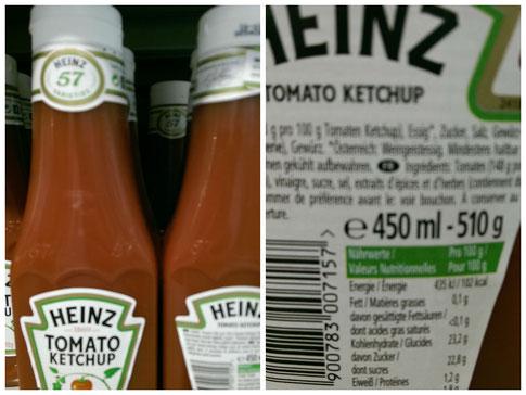 Zucker in Ketchup