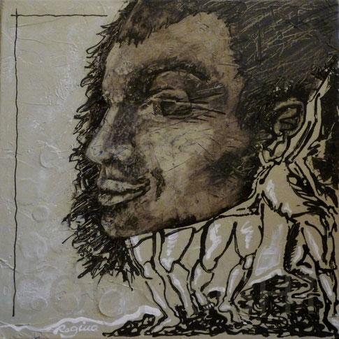 Titel: Kulturträger (Cultural Transfer) Acryl auf Leinwand, 50 x 50cm
