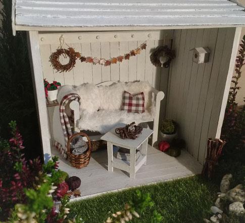 Herbstdeko Puppenhaus