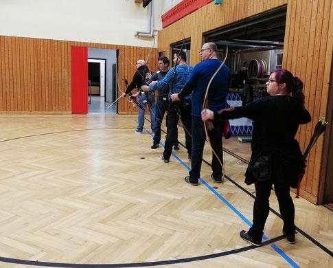 Das erste Training der Blankschützen in der Herderhalle