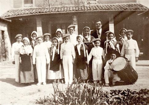 Ecole du hameau de Thouzon 1950/51
