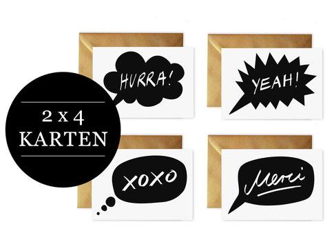 Grußkarten-Set von studio vanhart – www.studiovanhart.de
