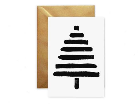 """Weihnachtskarte """"Tanne"""" von studio vanhart – www.studiovanhart.de"""
