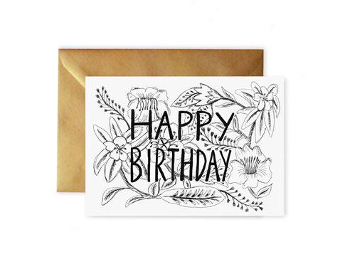 Geburtstagskarte / Glückwunschkarte von studio vanhart – www.studiovanhart.de