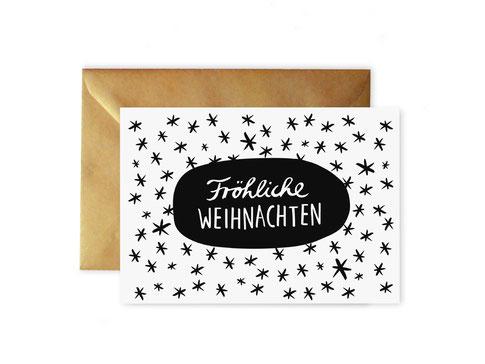 """Weihnachtskarte """"Sternenhimmel"""" von studio vanhart – www.studiovanhart.de"""