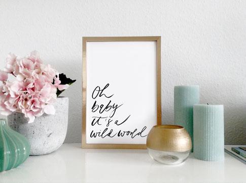 Brushlettering / Kunstdruck von studio vanhart – www.studiovanhart.de