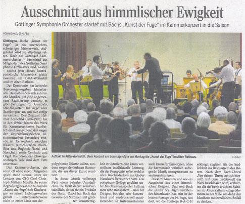 """""""Die Kunst der Fuge"""", Johann Sebastian Bach, 13. u. 14. Sept. 2015, Göttingen"""
