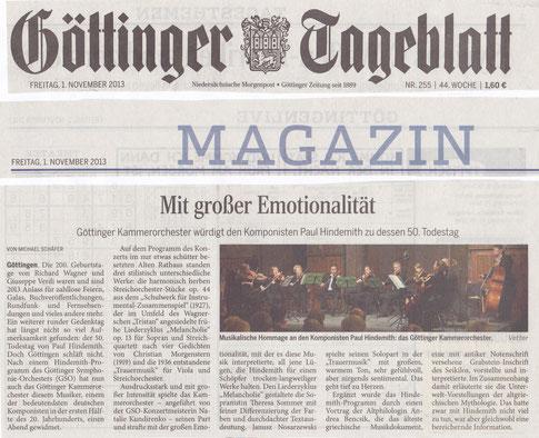 Konzert, Altes Rathaus, Göttingen, 25. 10. 2013