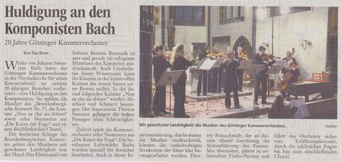 Göttinger Tageblatt, 13. Dez. 2012