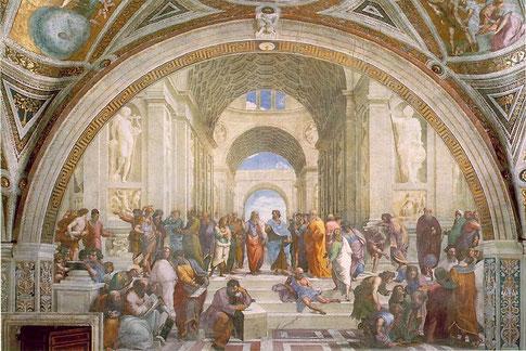 Raffaelo Santi, Die Philosophenschule von Athen