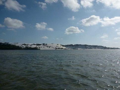 dunes de sable blanc neige