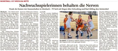 Bericht im Miesbacher Merkur am 21.05.2016 - Zum Vergrößern klicken