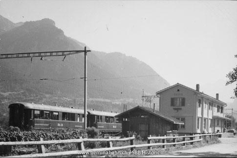 """802-0161-3813-101  Sammlung und Copyright: SBB_Historic unter Wikicommons """"Bahnhöfe der Schweiz"""""""